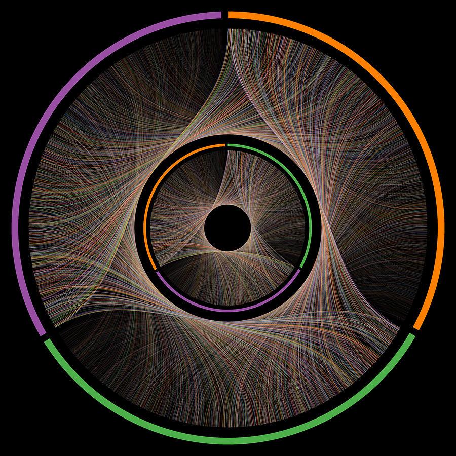Pi Digital Art - Three as One by Cristian Ilies Vasile