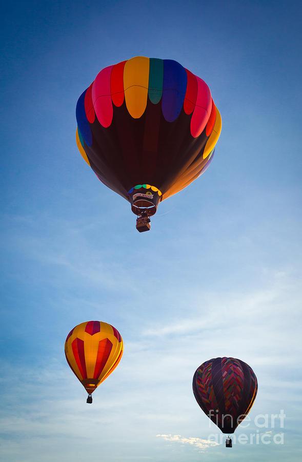 America Photograph - Three Balloons by Inge Johnsson