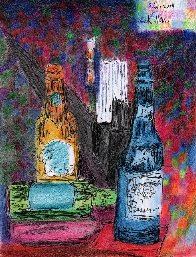 Modern Painting - Three Beers by William Killen