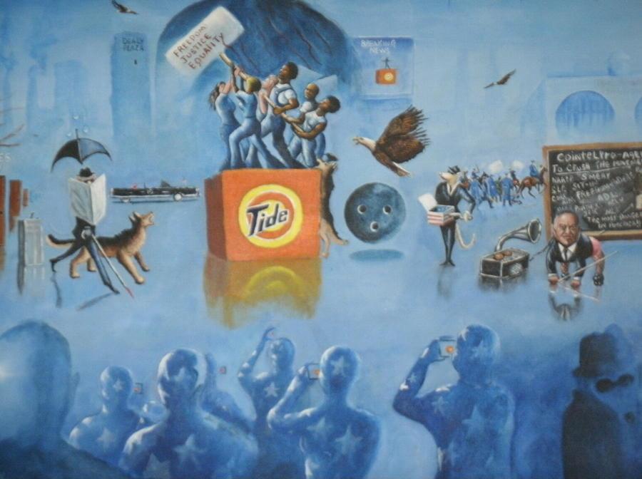 Freedom Painting - Three Blind Mice by Barbara Gray