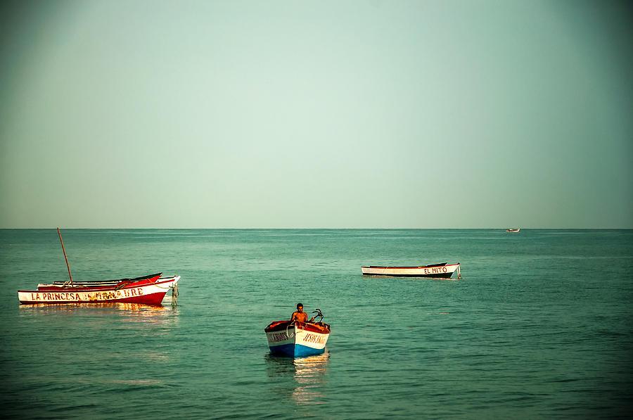Water Photograph - Three Boats by Jess Kraft