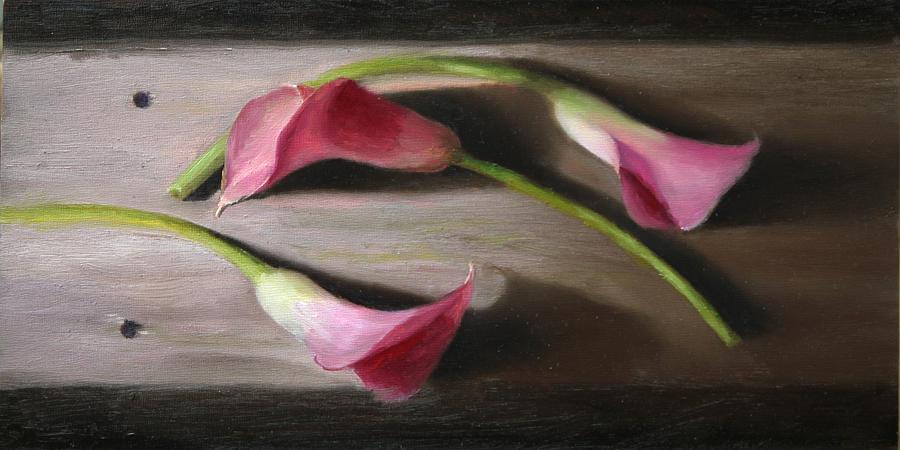 Three Calla Lilies by Beth Johnston