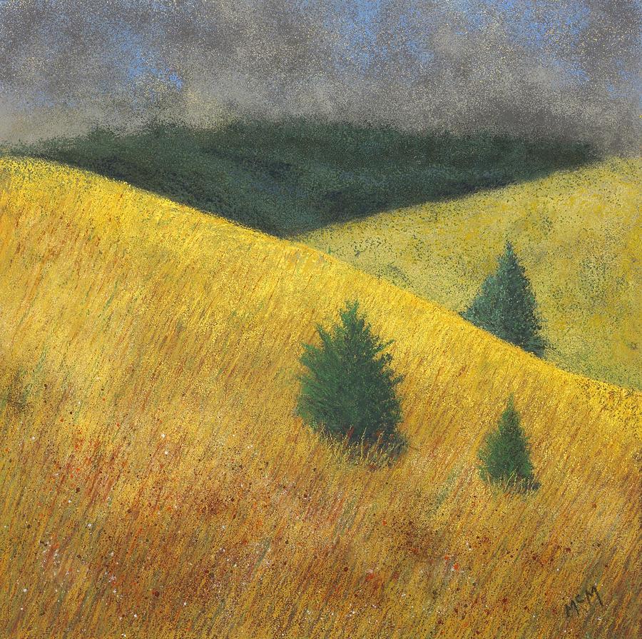 Ozarks Painting - Three Cedars by Garry McMichael