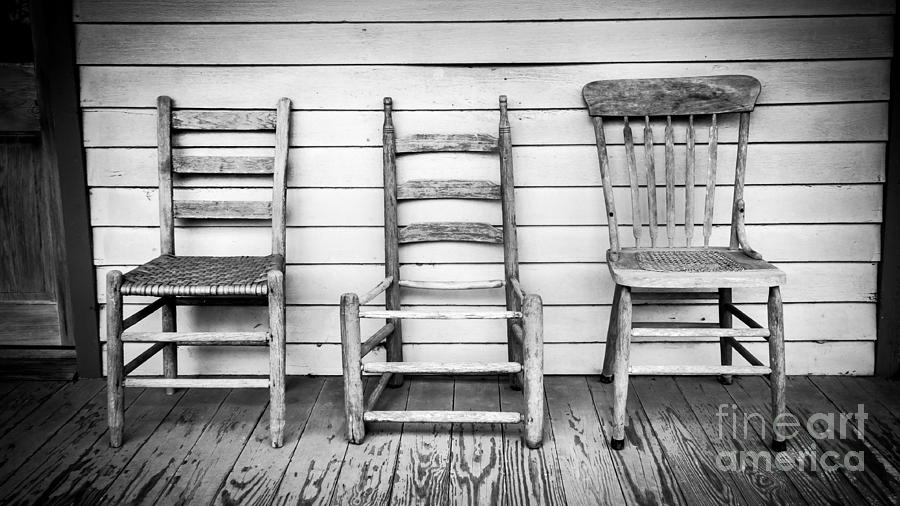 Porch Photograph - Three Chair Porch by Perry Webster