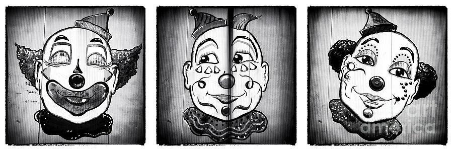 Clown Photograph - Three Clowns II by John Rizzuto