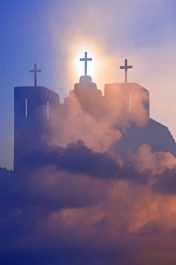 Christianity Photograph - Three Crosses by Jim Zuckerman