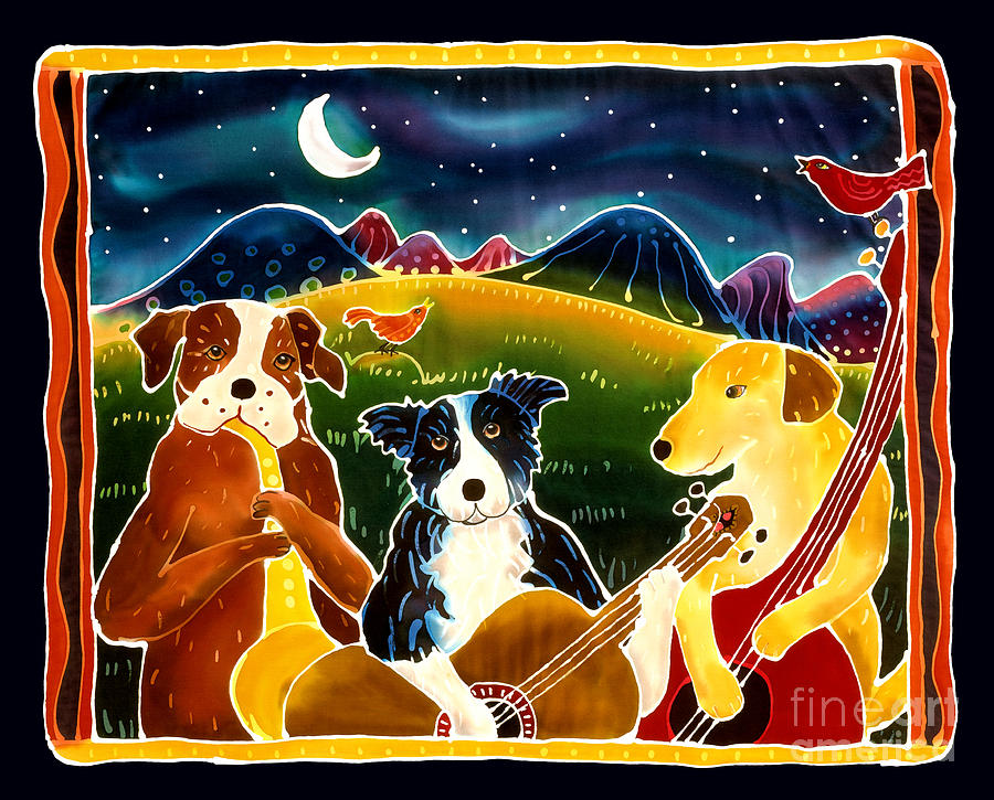 Dog Painting - Three Dog Night by Harriet Peck Taylor