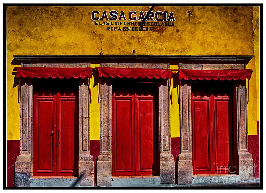 San Miguel De Allende Photograph - Three Doors Down by Barry Weiss