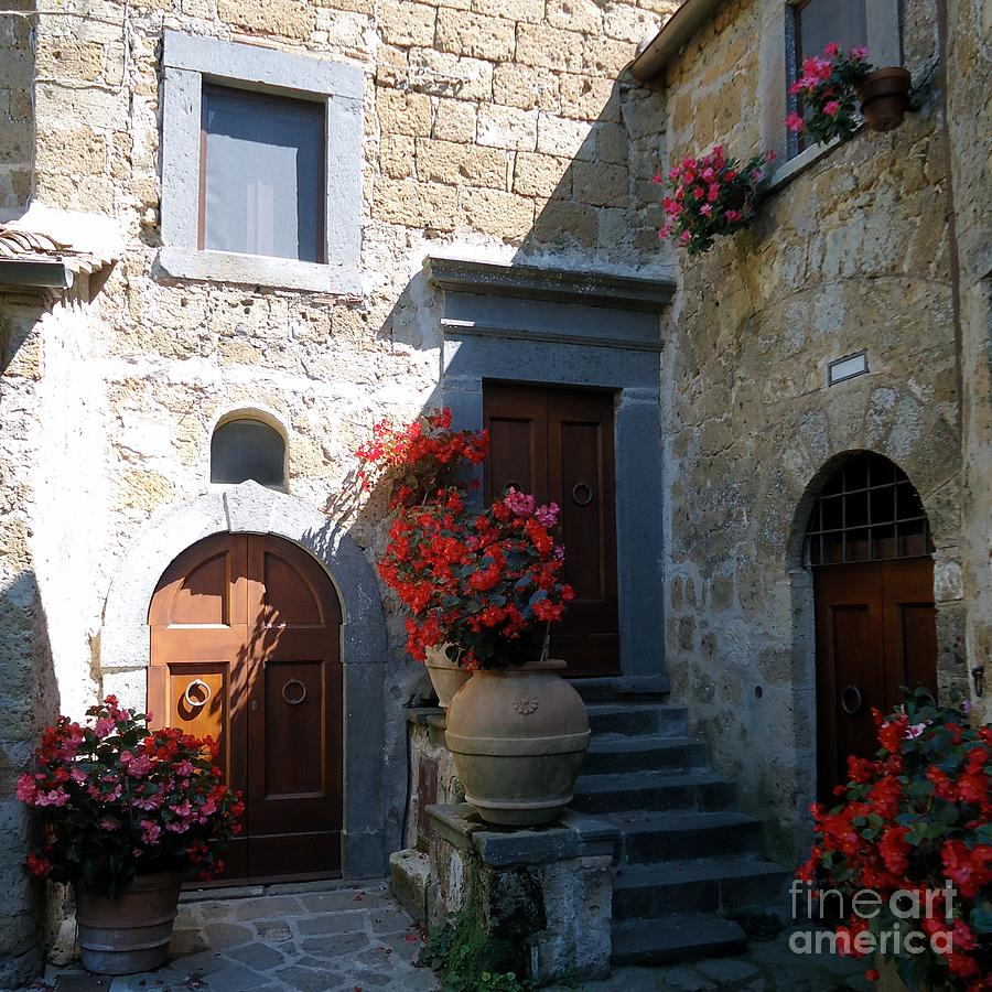 Three Doors In Bagnoregio Photograph