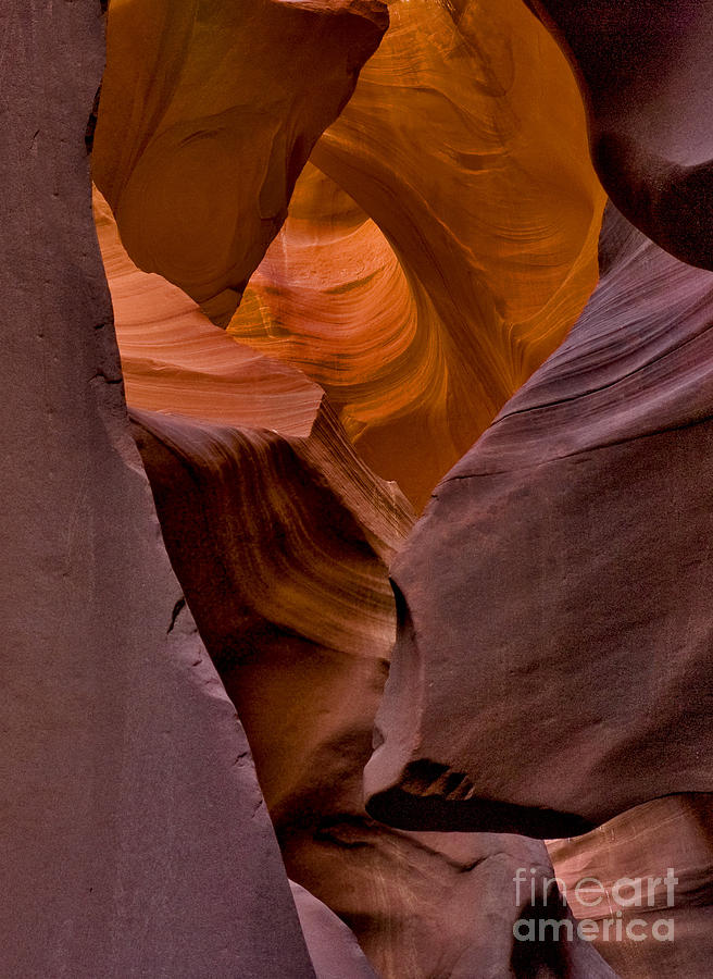 Greeting Cards Photograph - Three Faces In Sandstone by Mae Wertz