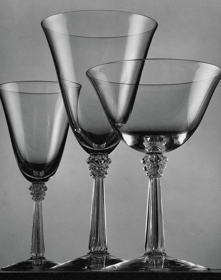 Three Glasses By Fostoria Photograph by Peter Nyholm