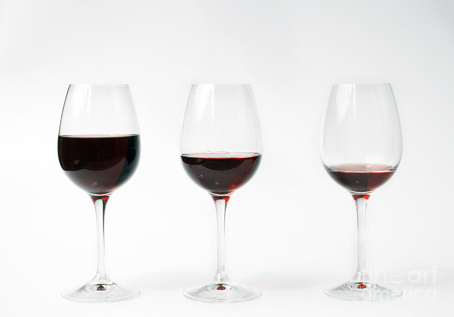 Three Photograph - Three Glasses Of Wine  by Patricia Hofmeester