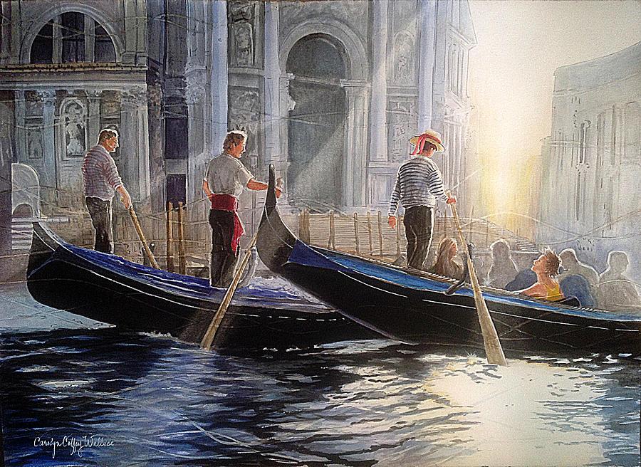 Three Gondoliers by Carolyn Coffey Wallace