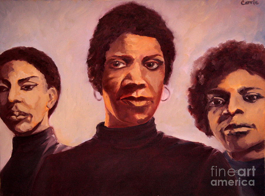 Women Painting - Three Graces One by Carrie Joy Byrnes