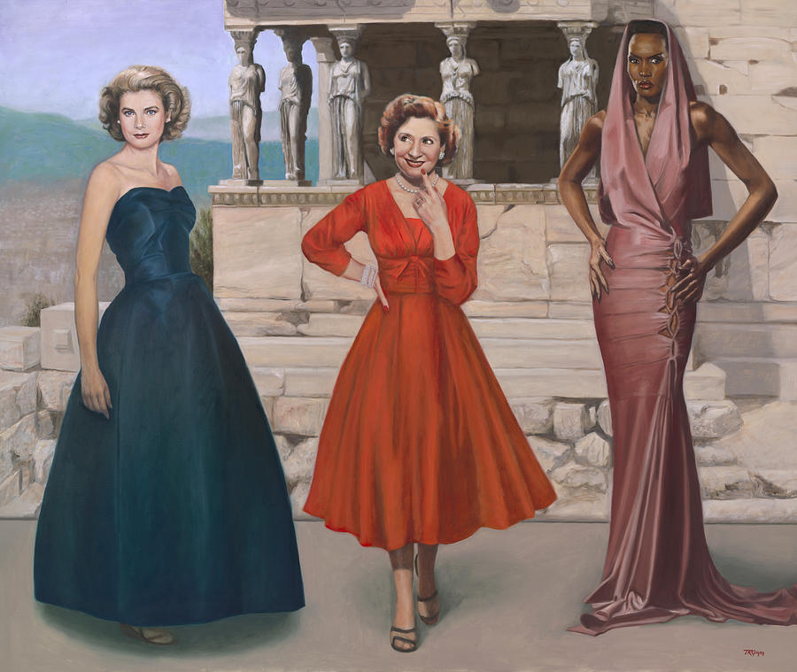 Princess Grace Painting - Three Graces by Terry Guyer