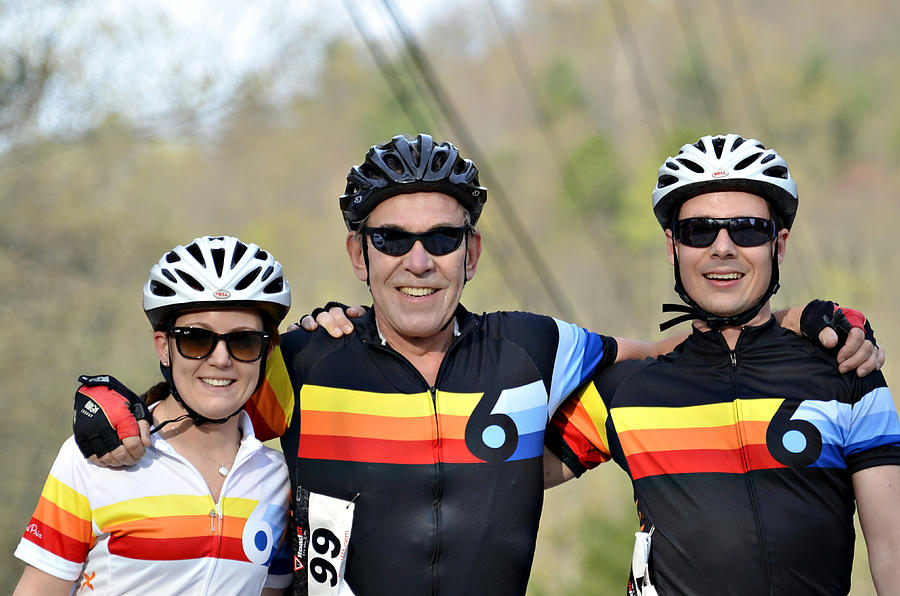 Sport Photograph - Three Gran Fondo Riders by Susan Leggett