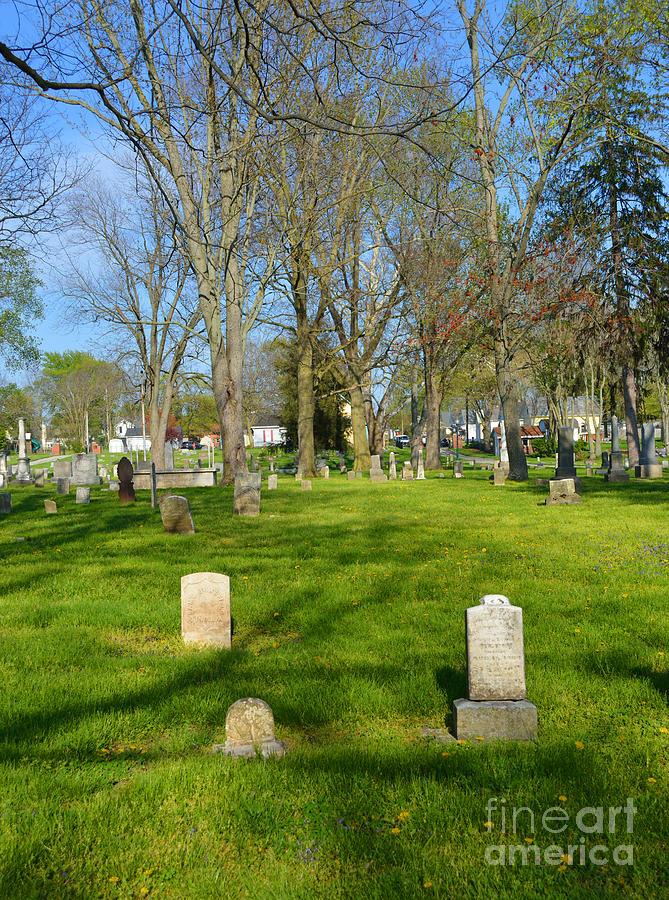 Indiana Photograph - Three Gravestones by Alys Caviness-Gober
