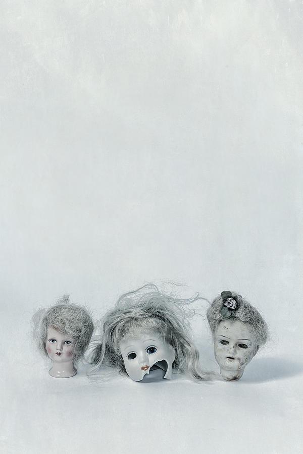 Doll Photograph - Three Heads by Joana Kruse
