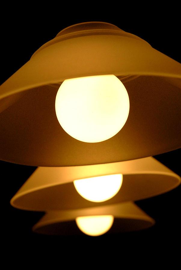 Light Photograph - Three Lights by Lena Wilhite