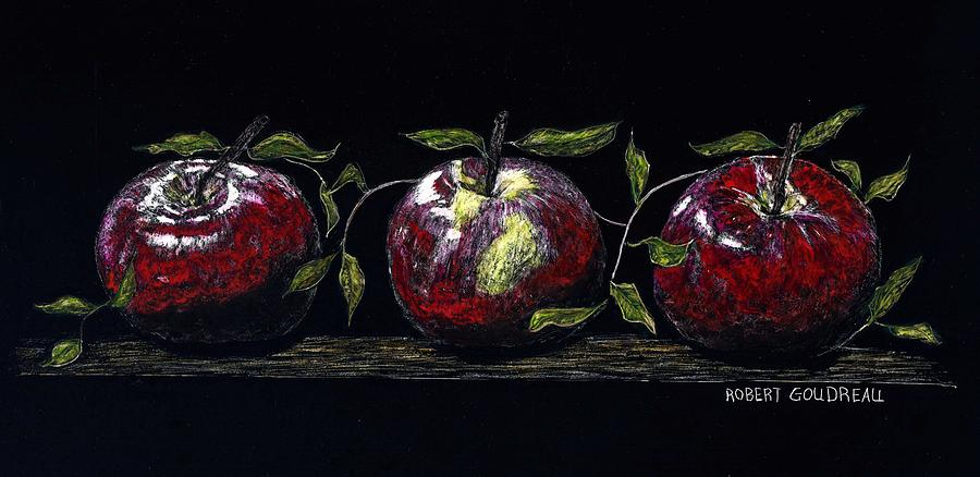 Apples Painting - Three Macs by Robert Goudreau