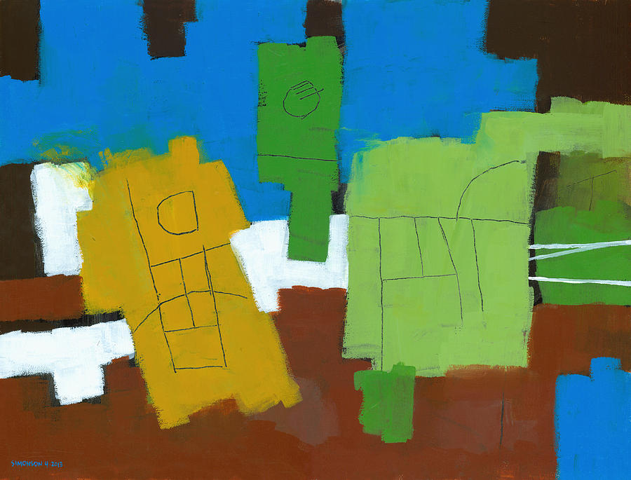 Abstract Painting - Three Musicians by Douglas Simonson