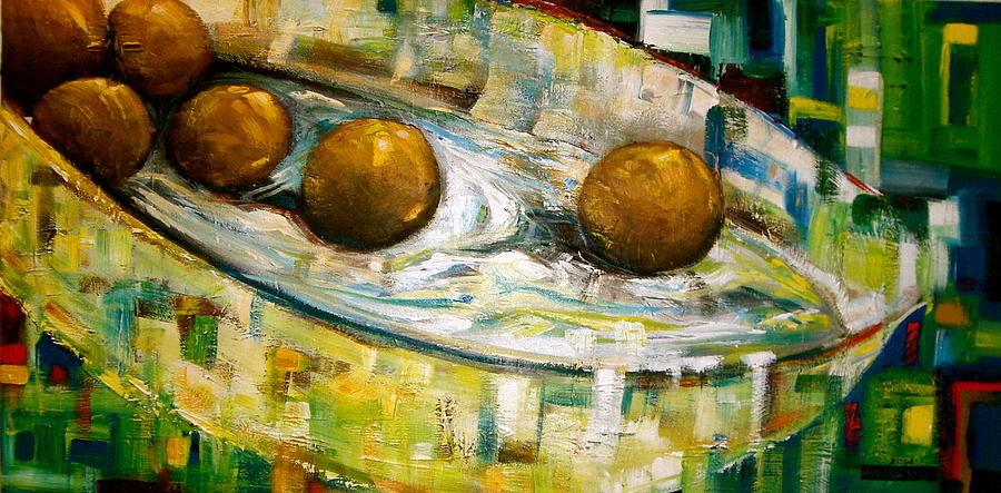 Still Life Painting - Three Of Six by Laurend Doumba