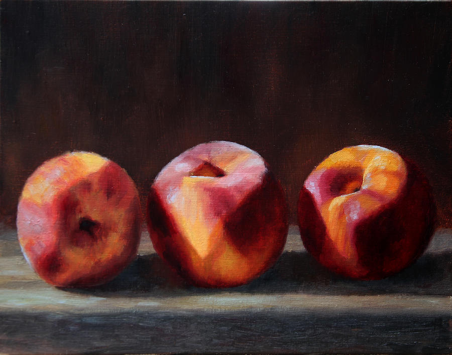 Three Peaches by Beth Johnston