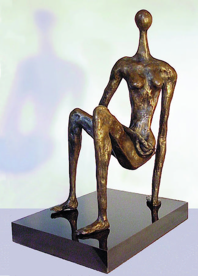 Woman Sculpture - Three Point Nude by Geoff Greene