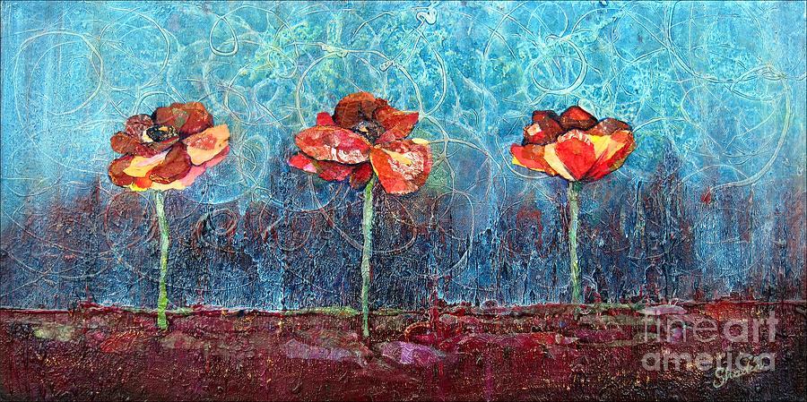 Three Poppies Painting