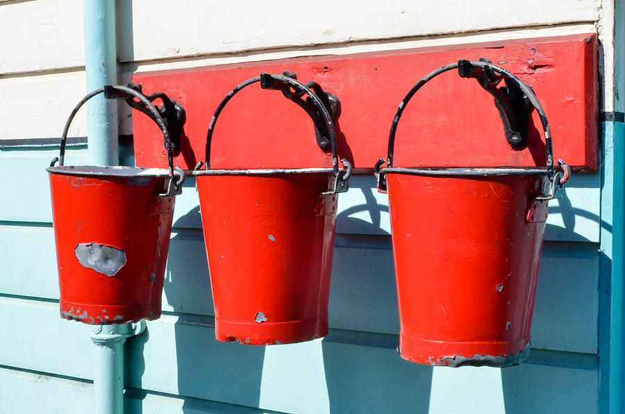 Three Red Buckets by Richard Jemmett