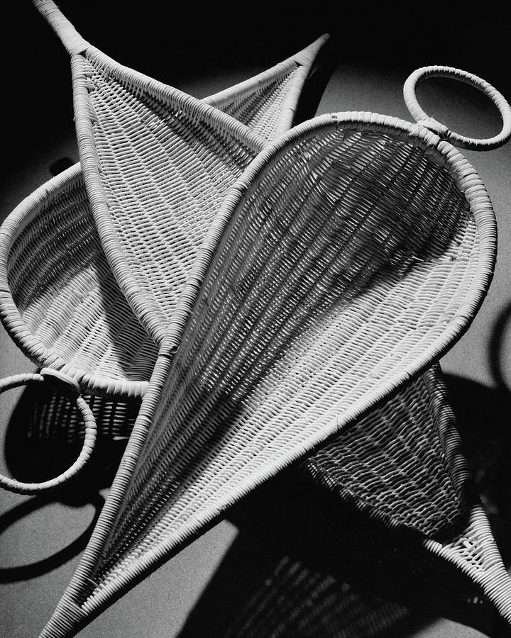 Three Reed Baskets Photograph by Martin Bruehl