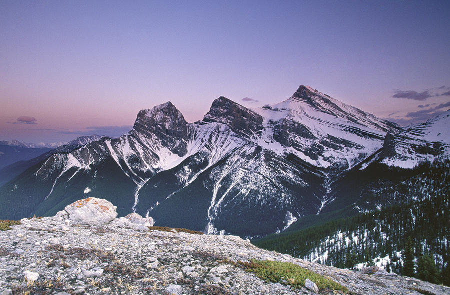 Canmore Photograph - Three Sisters at Twilight by Richard Berry