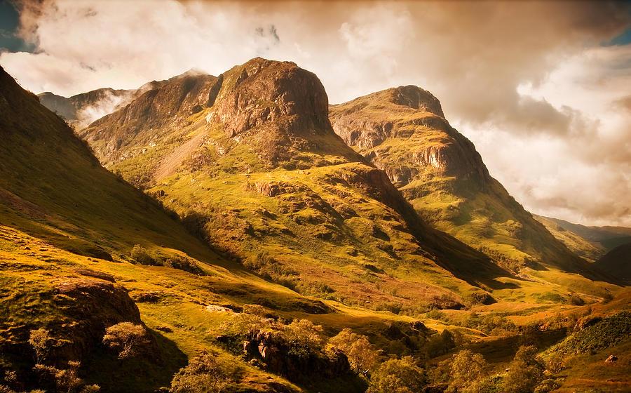 Scotland Photograph - Three Sisters. Glencoe. Scotland by Jenny Rainbow