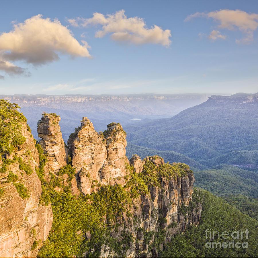 Australia Photograph - Three Sisters Katoomba Australia by Colin and Linda McKie