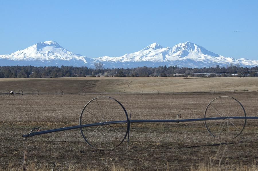 Three Sisters Photograph - Three Sisters Mountains by Linda Larson