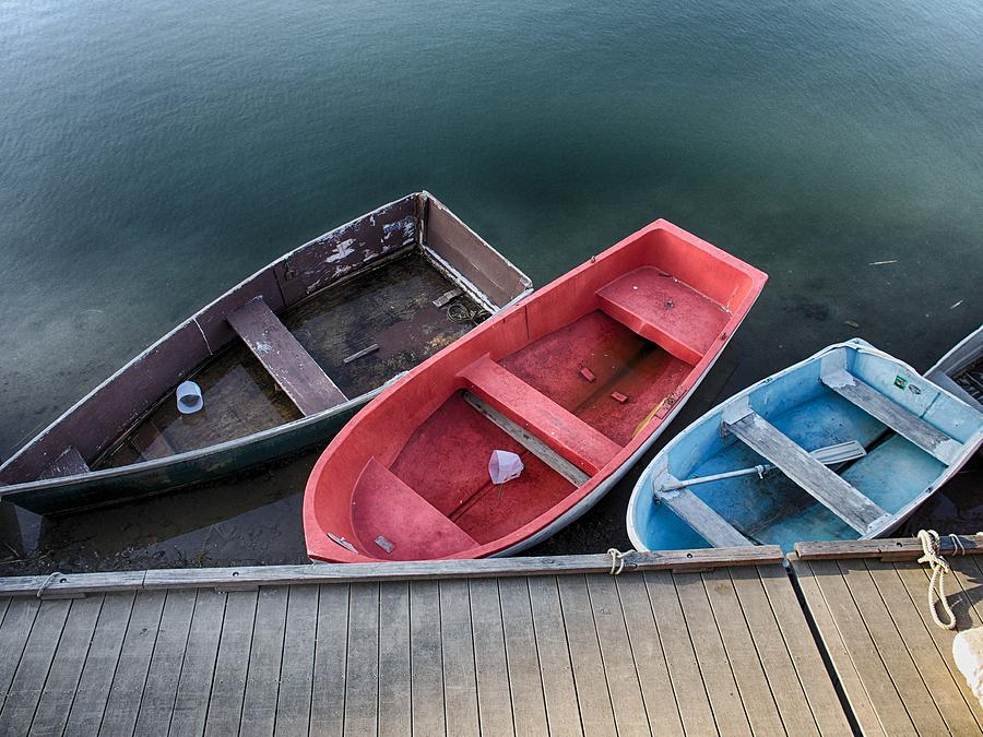 Three Skiffs by Pamela Hodgdon