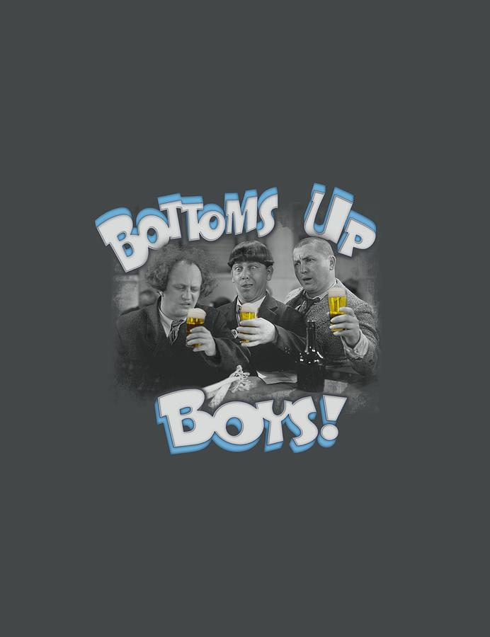 The Three Stooges Digital Art - Three Stooges - Bottoms Up by Brand A