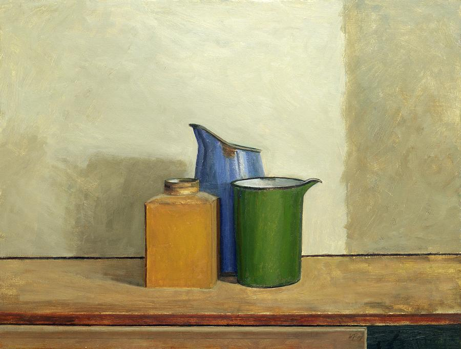 Still Life Painting - Three Tins Together by William Packer