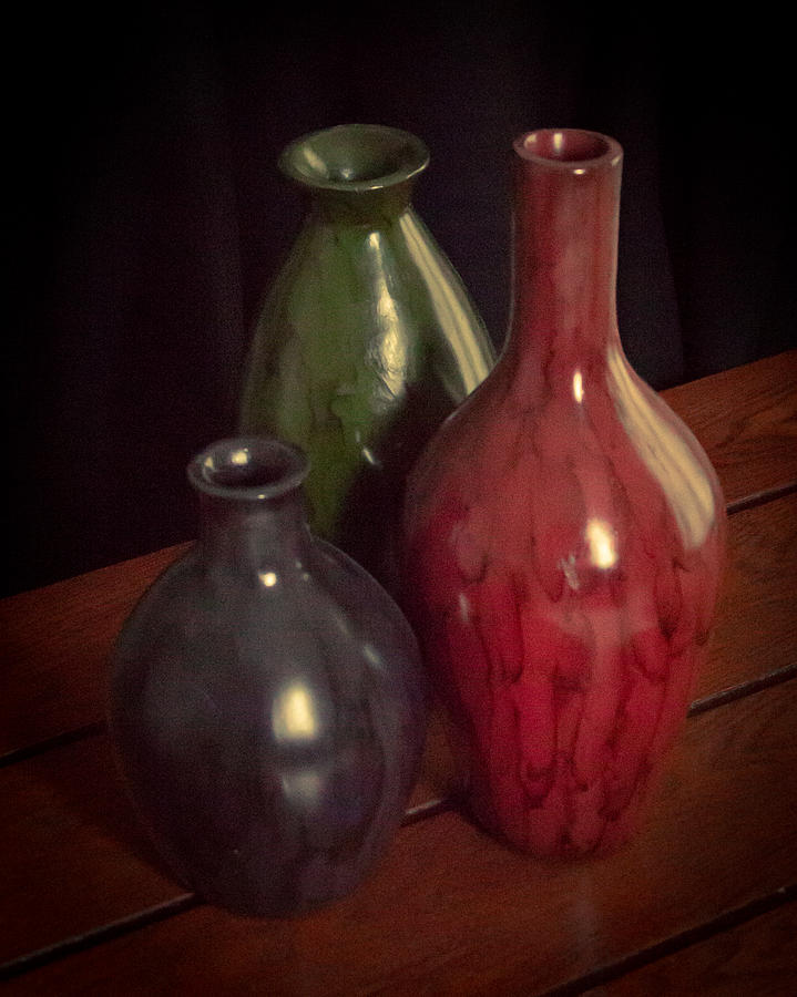 Three Vases Photograph By David Danz