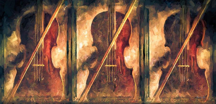Violins Painting - Three Violins by Bob Orsillo