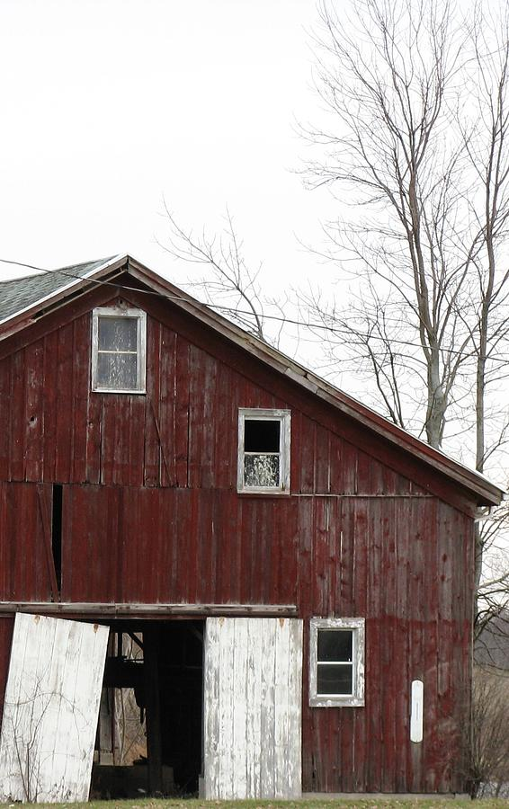 Old Barn Photograph - Three Windows by Debbie Finley