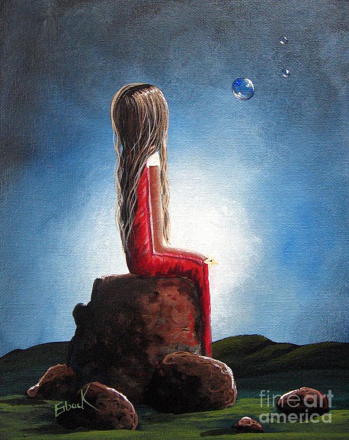 Girl Painting - Three Wishes By Shawna Erback by Shawna Erback