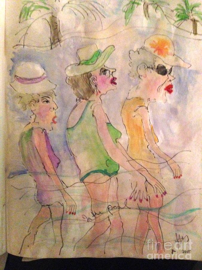 Three Women in the Pool by Heather Hennick