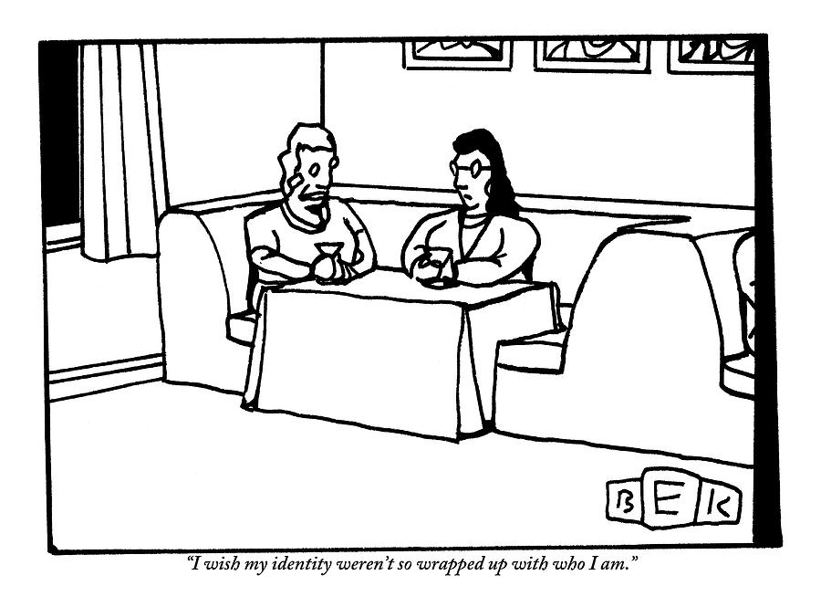 Three Women Sit Around A Booth In A Restaurant Drawing by Bruce Eric Kaplan