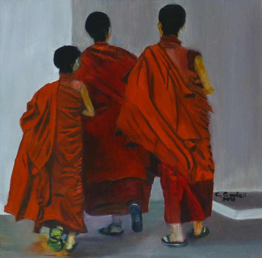 Three Young Monks by Claudia Goodell