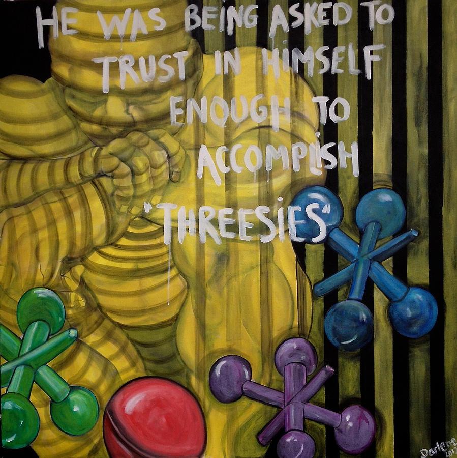 Darlene Graeser Painting - Threesies by Darlene Graeser