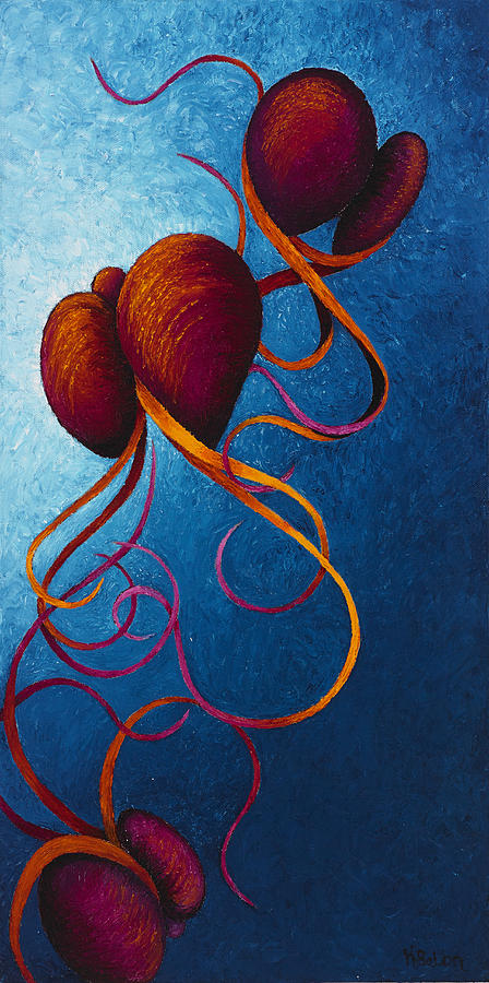 Contemporary Painting - Threesome by Karen Balon