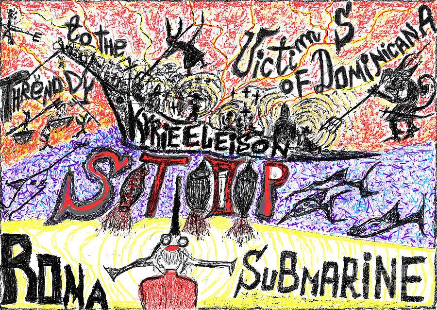 Fine Art Prints  Drawing - Threnody To The Victims Of Dominicana . Contro La Pedofilia A Chiesa Sancta. Der Zorn Gottes. by  Andrzej Goszcz