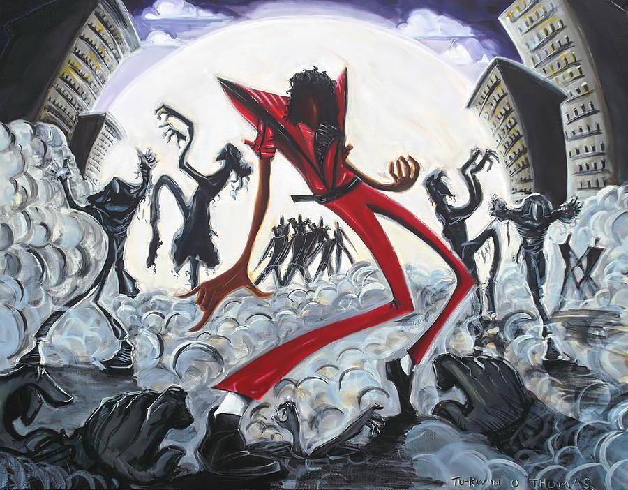 Thriller Painting - Thriller V2 by Tu-Kwon Thomas