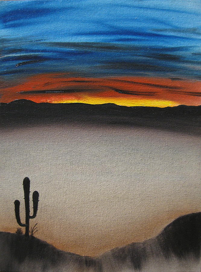 Desert Painting - Thriving In The Desert by Sayali Mahajan